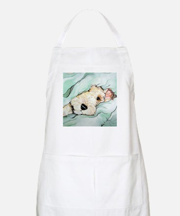 Napping Wire Fox Terrier Apron