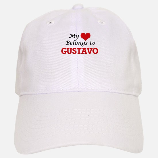 My heart belongs to Gustavo Baseball Baseball Cap