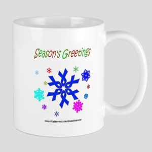 Blue Ribbon Snowflake Mug