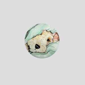 Napping Wire Fox Terrier Mini Button