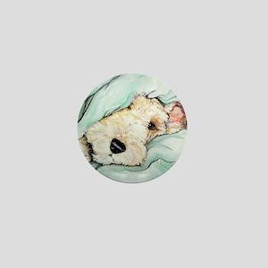 Napping Wire Fox Terrier Mini Button