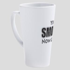 Yes I'm Smoking 17 oz Latte Mug