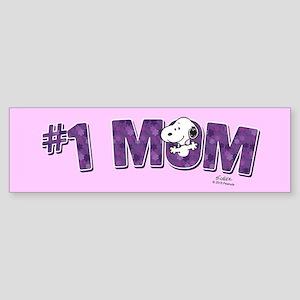 Snoopy - #1 Mom Full Bleed Bumper Sticker