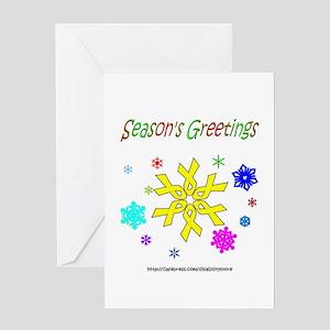 Yellow Ribbon Snowflake Greeting Card