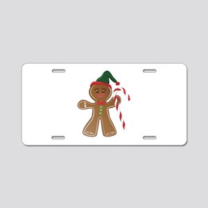 Gingerbread Man Aluminum License Plate