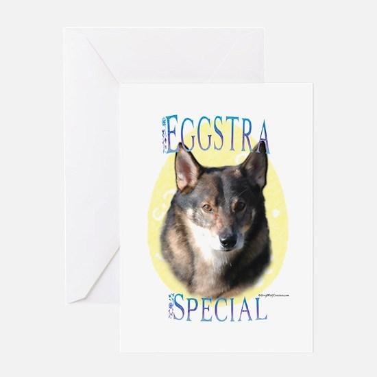 Vallhund Eggstra Greeting Card