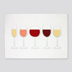 Glasses Of Wine 5'x7'Area Rug