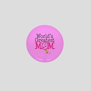 Woodstock - World's Greatest Mom Full Mini Button