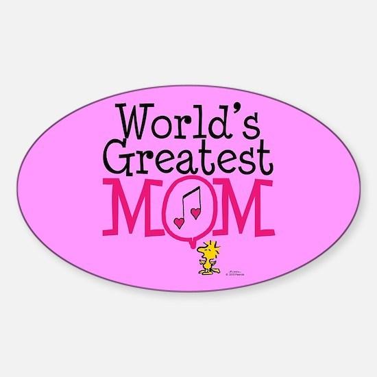 Woodstock - World's Greatest Mom Full Blee Decal