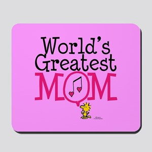 Woodstock - World's Greatest Mom Full Bl Mousepad