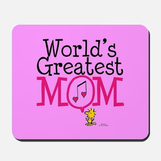 Woodstock - World's Greatest Mom Full Bl Mousepad