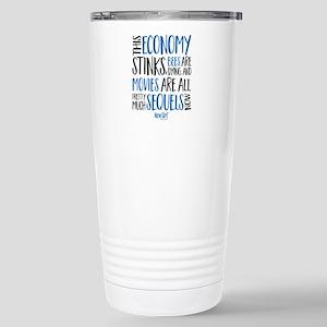 New Girl Economy Stinks Stainless Steel Travel Mug