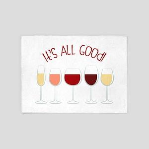 All Good Wine 5'x7'Area Rug