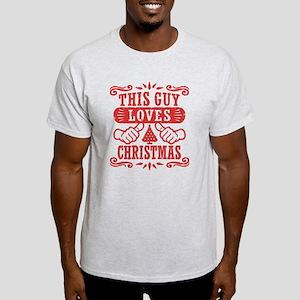 This Guy Loves Christmas Light T-Shirt