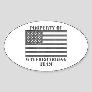 Property of U.S. Waterboarding Team Oval Sticker