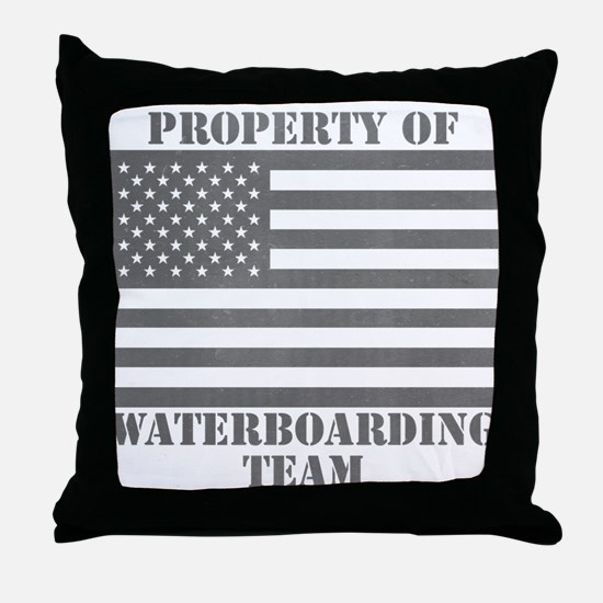 Property of U.S. Waterboarding Team Throw Pillow