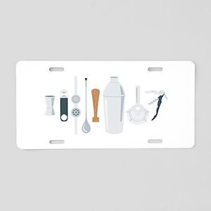 Bartender Mixing Tools Aluminum License Plate