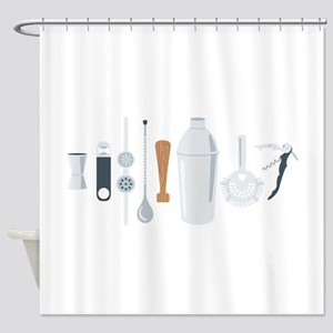 Bartender Mixing Tools Shower Curtain