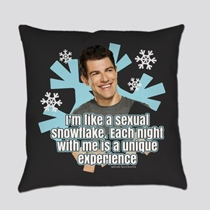 New Girl Schmidt Snowflake Everyday Pillow