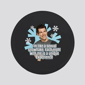 New Girl Schmidt Snowflake Button