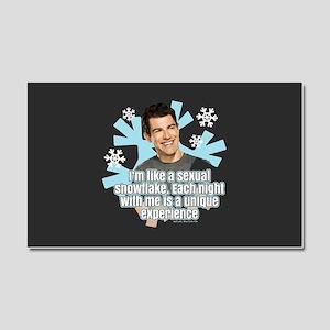 New Girl Schmidt Snowflake Car Magnet 20 x 12