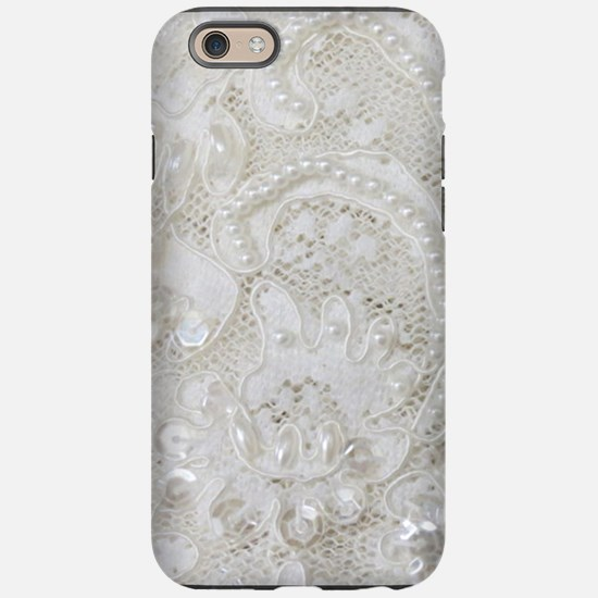 boho chic french lace iPhone 6/6s Tough Case