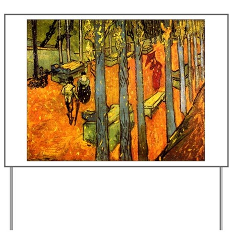 Alyscamps by Vincent Van Gogh Yard Sign