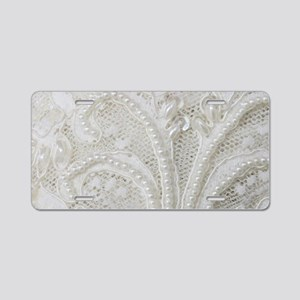 boho chic french lace Aluminum License Plate