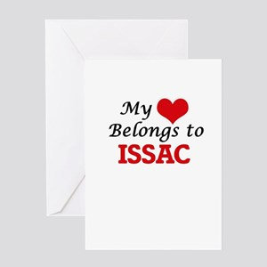 My heart belongs to Issac Greeting Cards