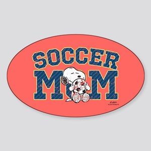 Snoopy Soccer Mom Full Bleed Sticker