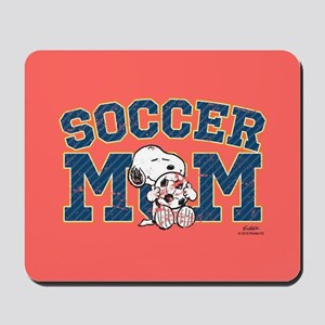 Snoopy Soccer Mom Full Bleed Mousepad