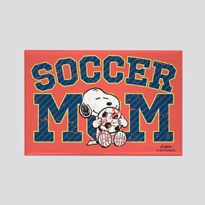 Snoopy Soccer Mom Full Bleed Magnets