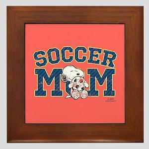 Snoopy Soccer Mom Full Bleed Framed Tile