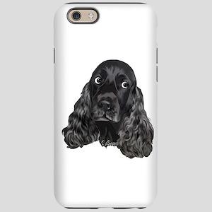 Cute Black Cocker Spaniel Portrait Print iPhone 6/