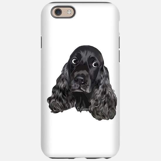 Cute Black Cocker Spaniel Portrait Print iPhone 6/