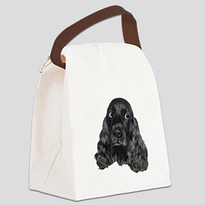 Cute Black Cocker Spaniel Portrait Print Canvas Lu