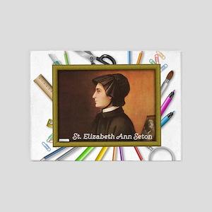 St. Elizabeth Ann Seton 5'x7'Area Rug