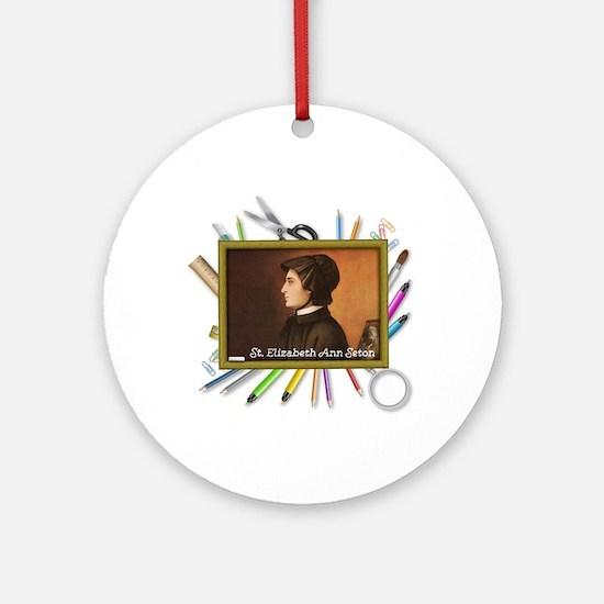 St. Elizabeth Ann Seton Round Ornament