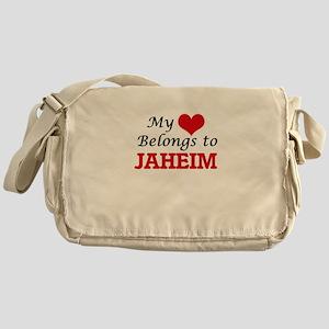 My heart belongs to Jaheim Messenger Bag