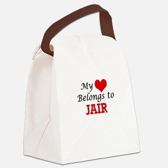 My heart belongs to Jair Canvas Lunch Bag