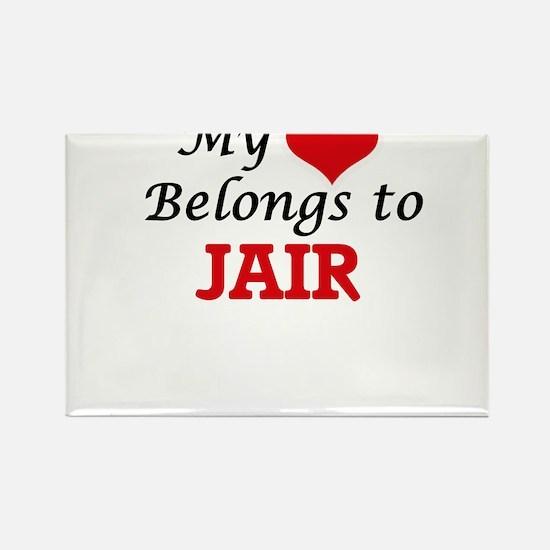 My heart belongs to Jair Magnets