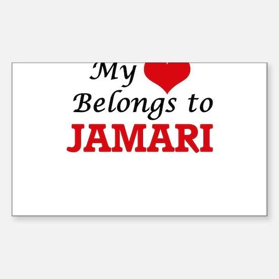 My heart belongs to Jamari Decal