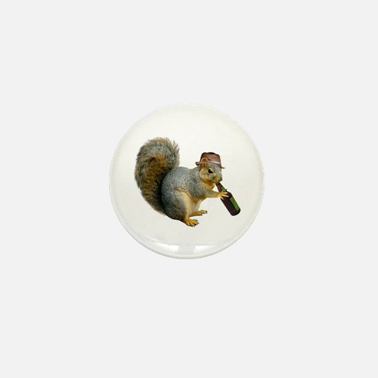 Squirrel Beer Hat Mini Button (100 pack)