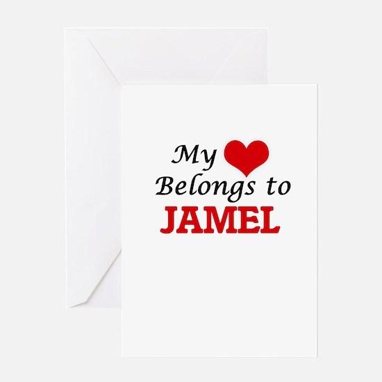 My heart belongs to Jamel Greeting Cards