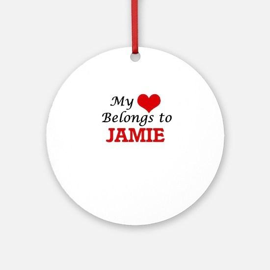 My heart belongs to Jamie Round Ornament