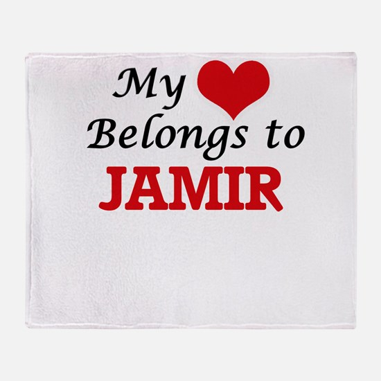 My heart belongs to Jamir Throw Blanket