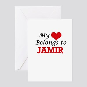 My heart belongs to Jamir Greeting Cards