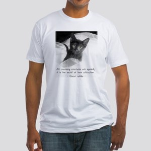 Spoiled Kitten-And-Quote Fitted T-Shirt