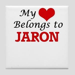 My heart belongs to Jaron Tile Coaster