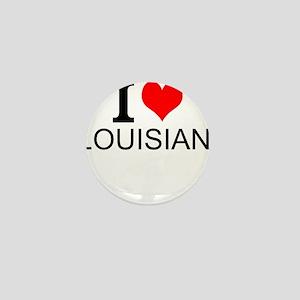 I Love Louisiana Mini Button